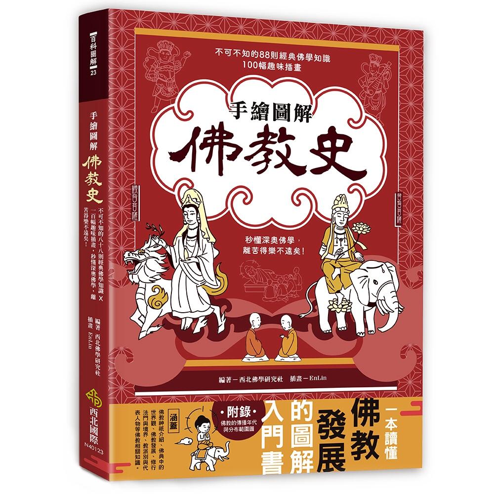 手繪圖解.佛教史:不可不知的88則經典佛學知識 ╳ 100幅趣味插畫,秒懂深奧佛學,離苦得樂不遠矣!