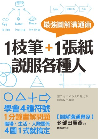 1枝筆+1張紙,說服各種人:最強圖解溝通術,學會4種符號,職場、生活、人際關係,4圖1式就搞定!