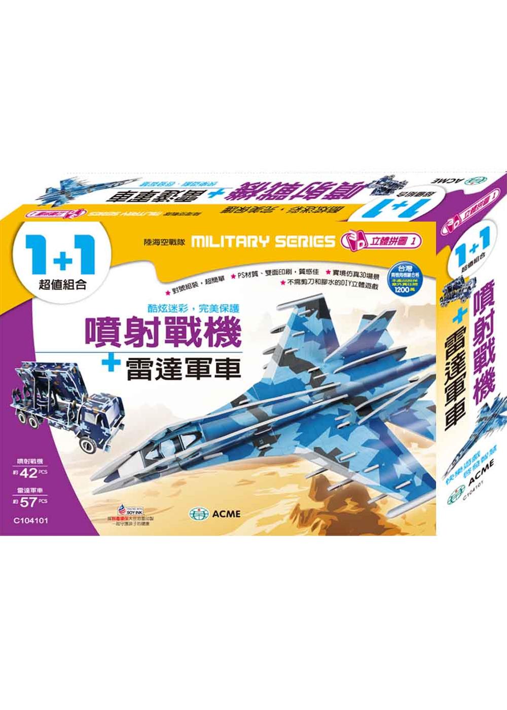 噴射戰機+雷達軍車