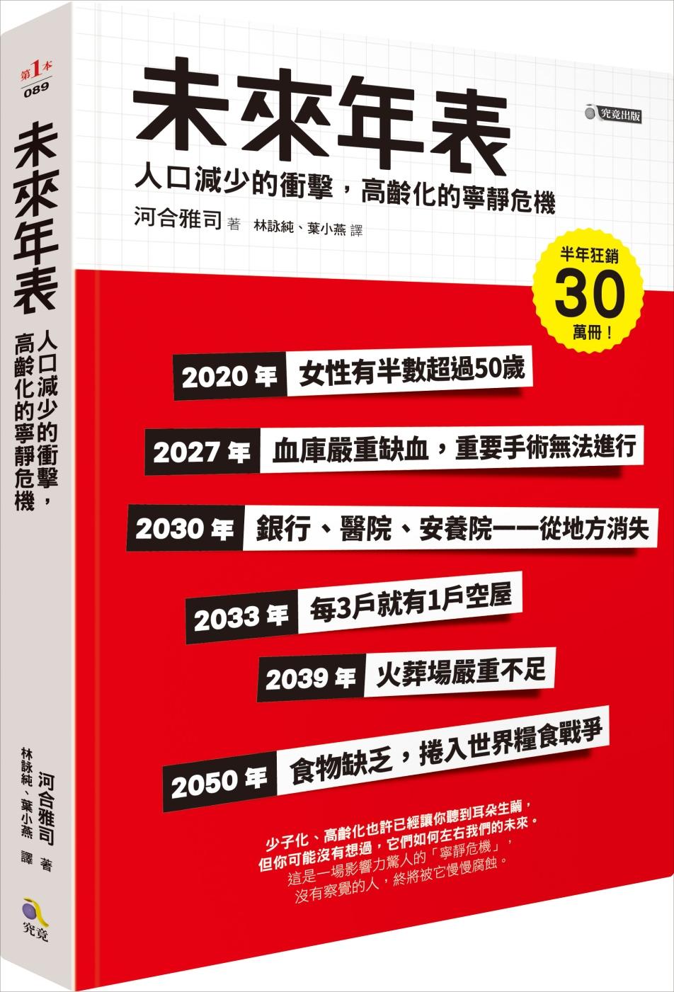 未來年表:人口減少的衝擊,高齡化的寧靜危機