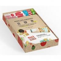 纸胶带ing限量收藏礼物盒:32种圣诞创意卡片、居家装饰、布置包装实作范例,任何节日都能使用的纸胶带设计提案!